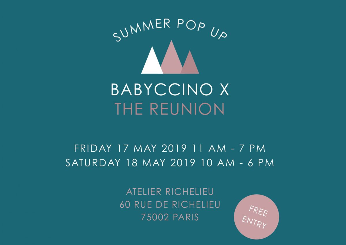 summer pop-up store babyccino x the reunion